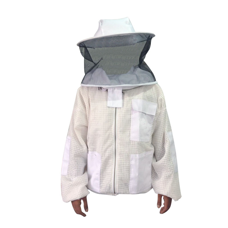 White Ultra Breeze ventilated Beekeeping Jacket with Round Veil