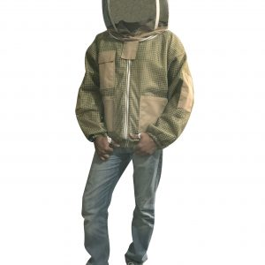 Khaki Ultra Breeze ventilated Beekeeping Jacket with Fencing Veil