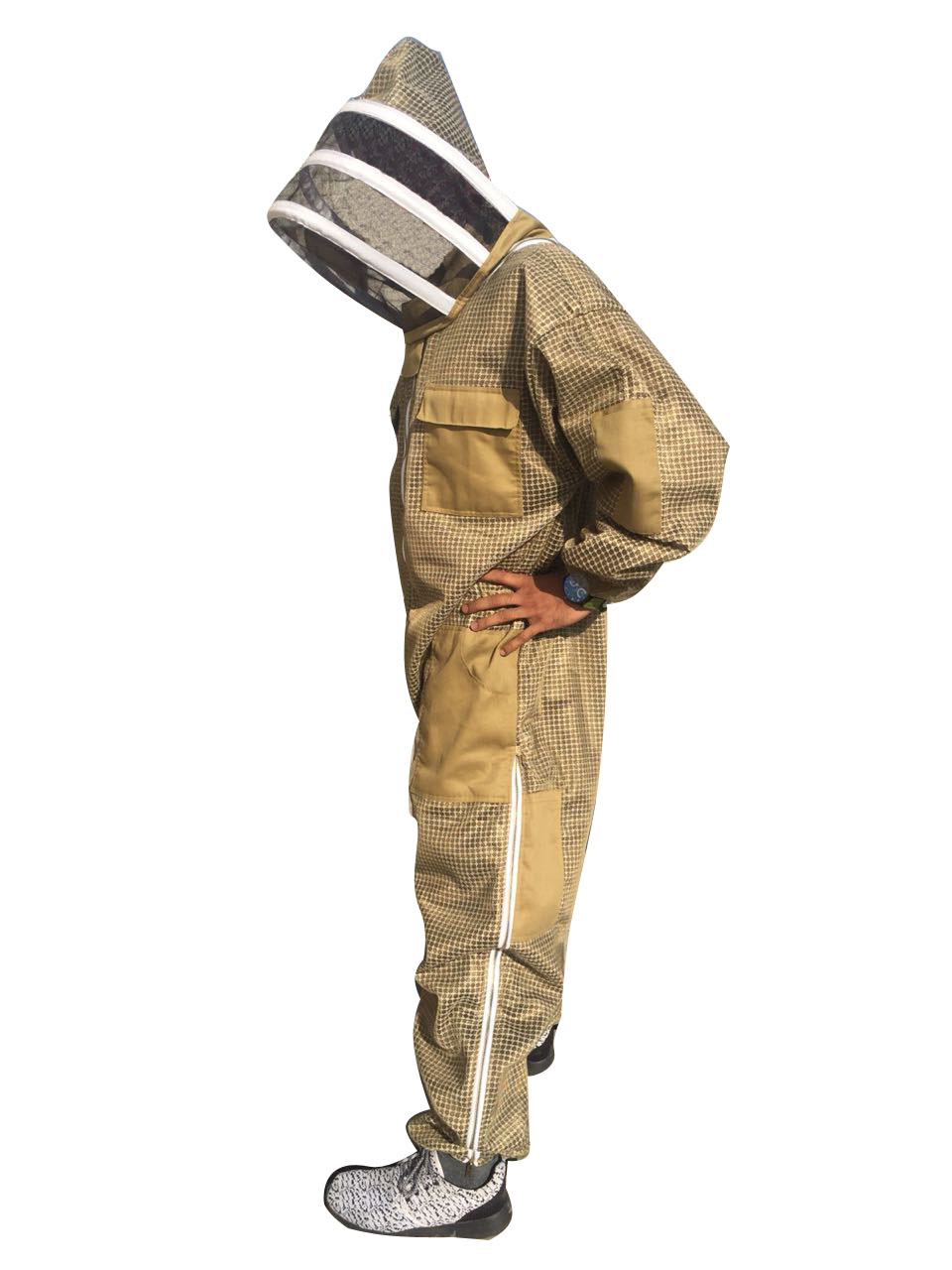 Khaki 3 Layer Ultra Breeze Ventilated Beekeeping Suit With