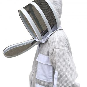 Ultra ventilated Beekeeping Jacket with Fencing Veil Face Zipper