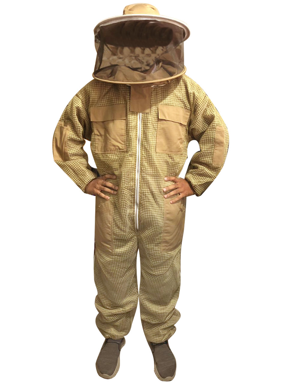 Bee Sting Safety 3 Layer Ultra Ventilated beekeeping jacket veil hat hood 4XL