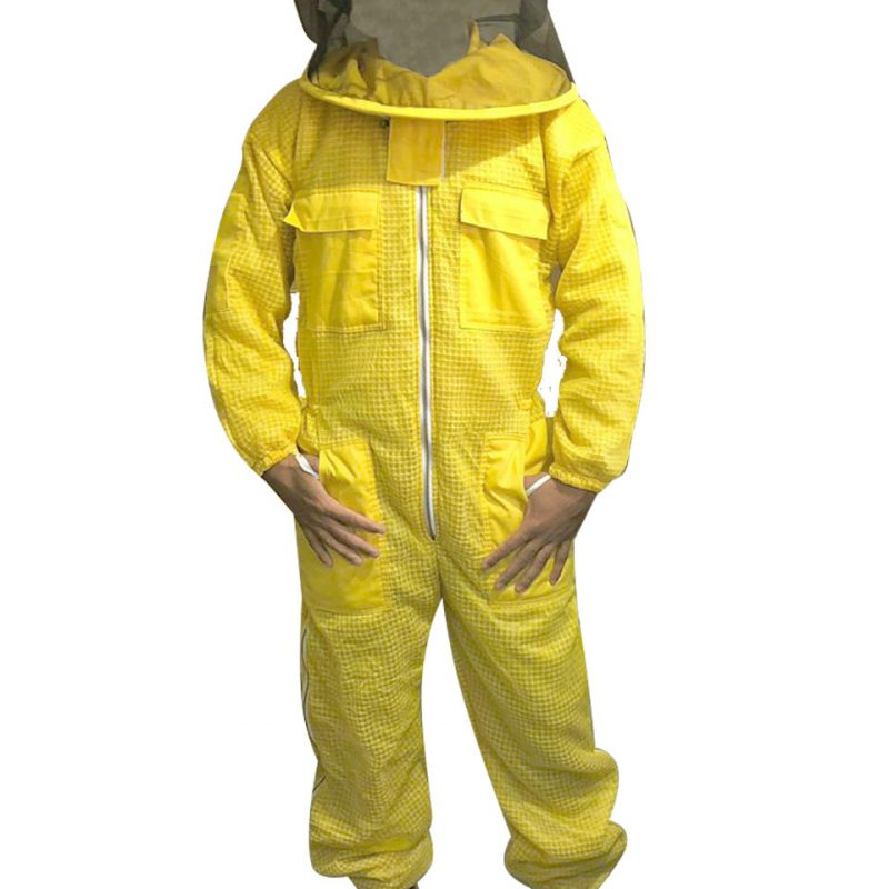 Yellow 3-layer Ultra Breeze ventilated Beekeeping Suit with Round Veil
