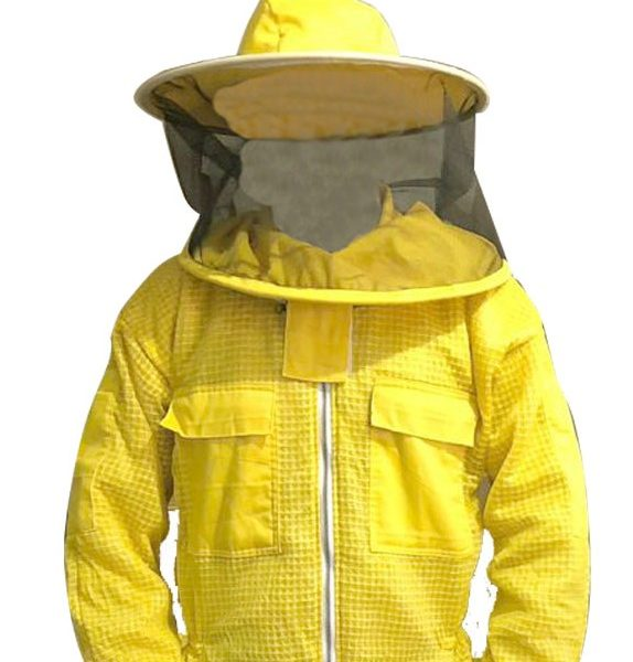 Yellow Ultra Breeze ventilated Beekeeping Jacket with Round Veil