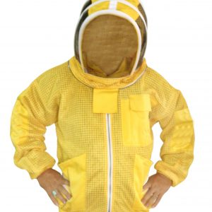 Yellow Ultra Breeze ventilated Beekeeping Jacket with Fencing Veil