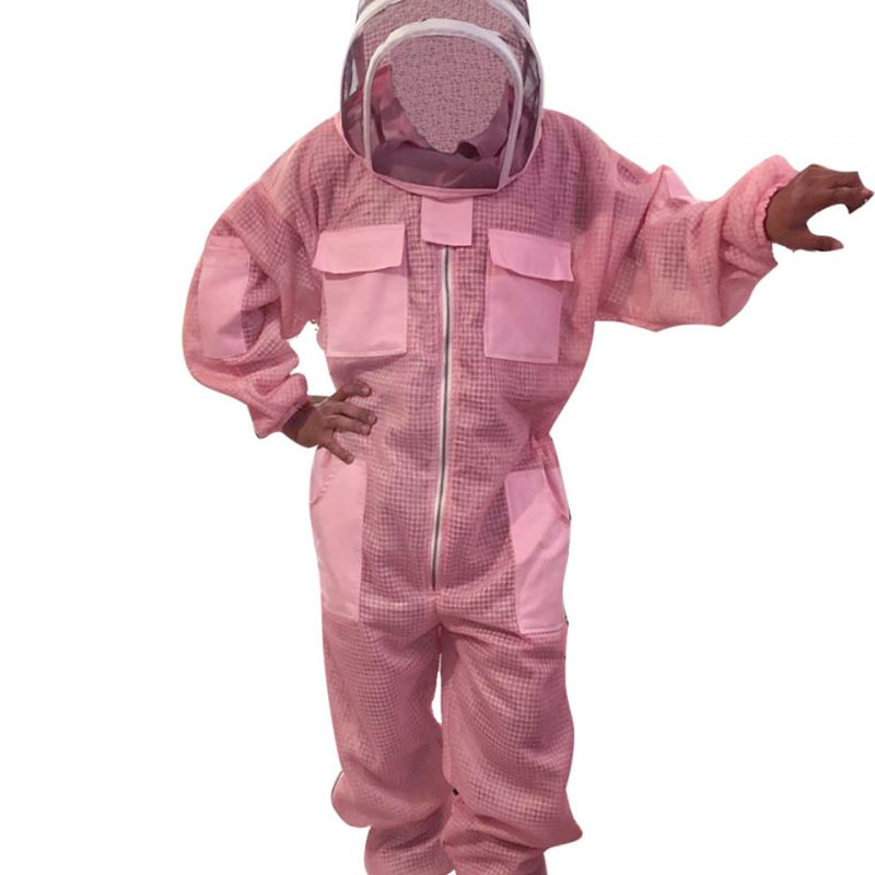 Pink 3-layer Ultra Breeze ventilated Beekeeping Suit with Fencing Veil