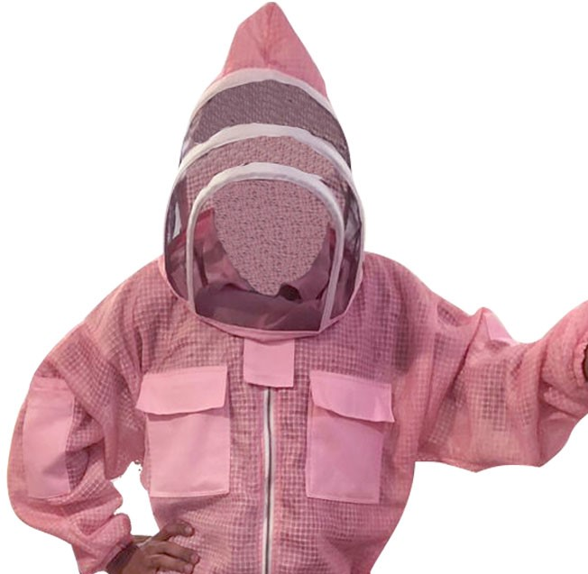Pink 3-layer Ultra Breeze ventilated Beekeeping Jacket with Fencing Veil