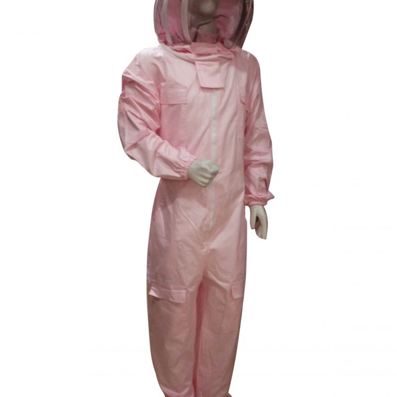 Massive Bee Store Beekeeping Professional Protective Suits with fencing veil pink