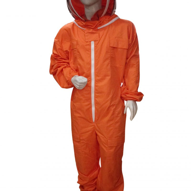 Massive Bee Store Beekeeping Professional Protective Suits with fencing veil Orange
