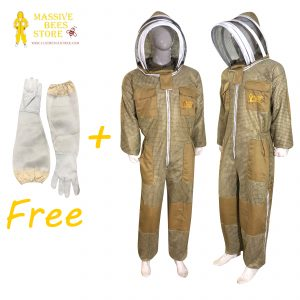 Khaki 3-layer Ultra Breeze ventilated Beekeeping Suit with Fencing Veil