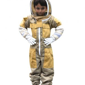 Child Kid Beekeeping Ventilated Suit with Fencing Veil