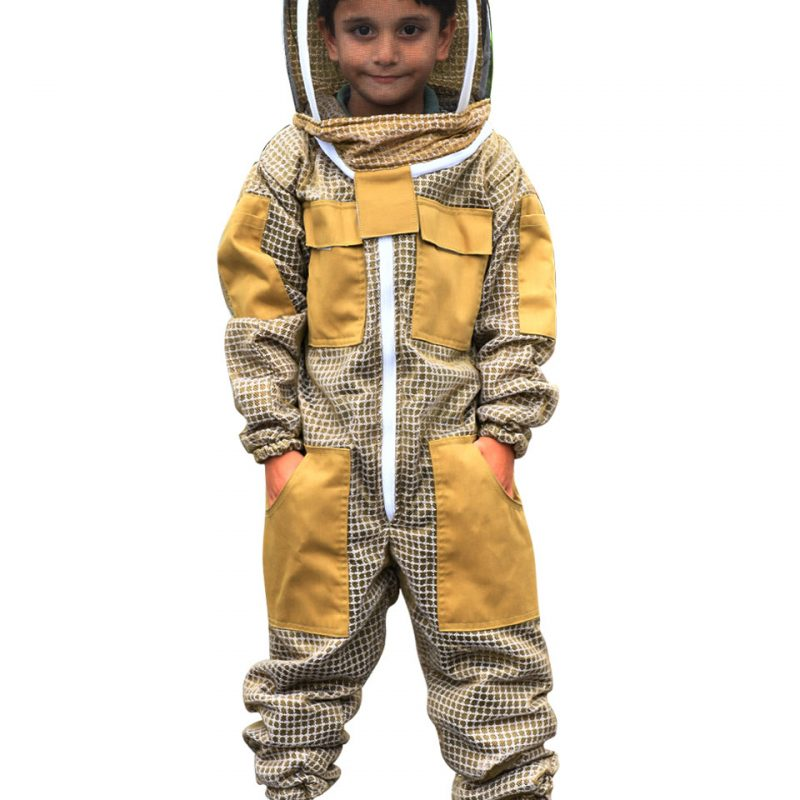 Child / Kid Beekeeping Ventilated Suit with Fencing Veil