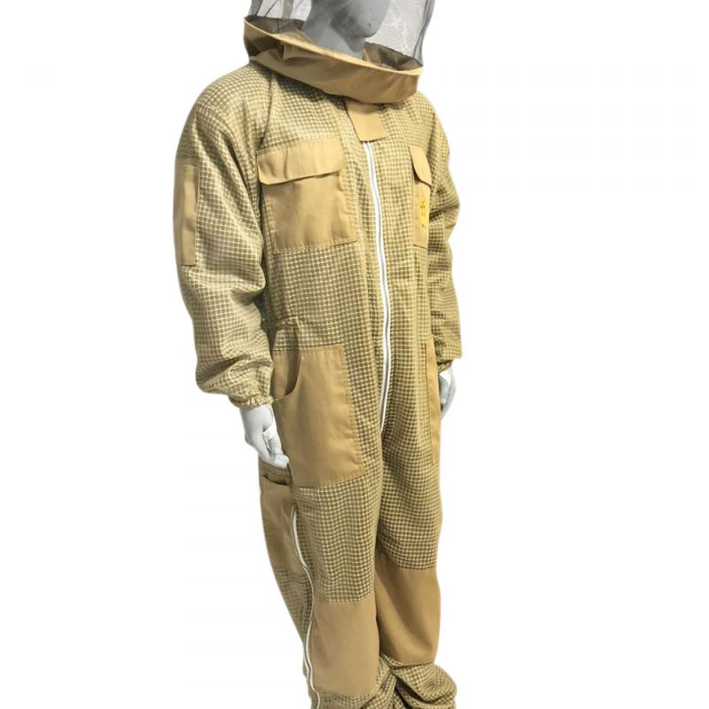 Breeze ventilated Beekeeping Suit Round Veil 3 Layer