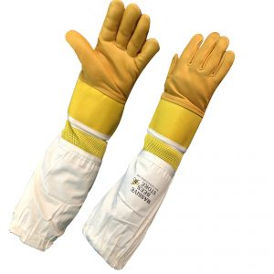 Beekeeping Ventilated Cowhide Gloves Yellow