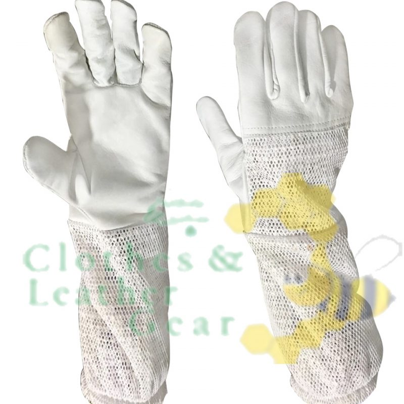 Beekeeping 3-Layer Ventilated Gloves half palm