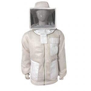 White Breeze ventilated Square Veil Beekeeping Jacket